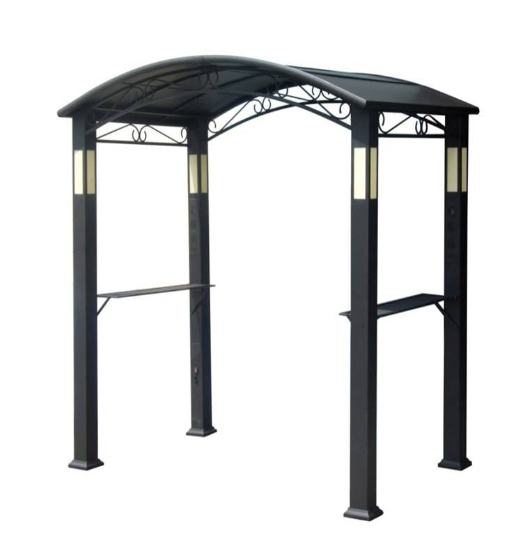 BBQ-PRO Hardtop Grill Gazebo with Lights and Speakers ...
